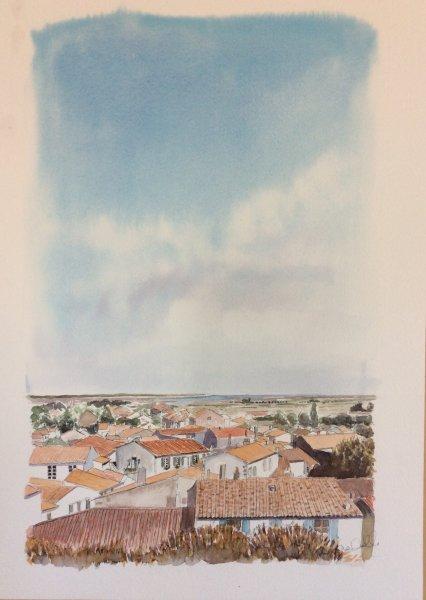 Ars rooftops Sue Dudill Artiste Ile de Re