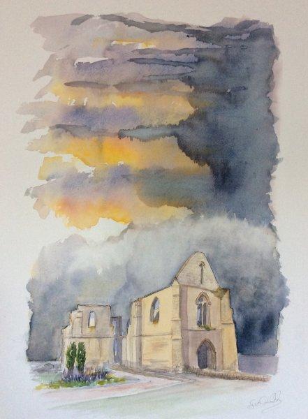 La Flotte Abbaye Orage Sue Dudill Artiste Ile de Re