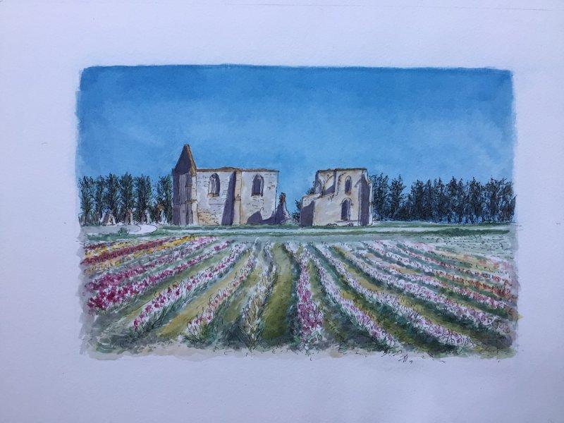 La Flotte Abbaye Printemps Sue Dudll artiste Ile de Re