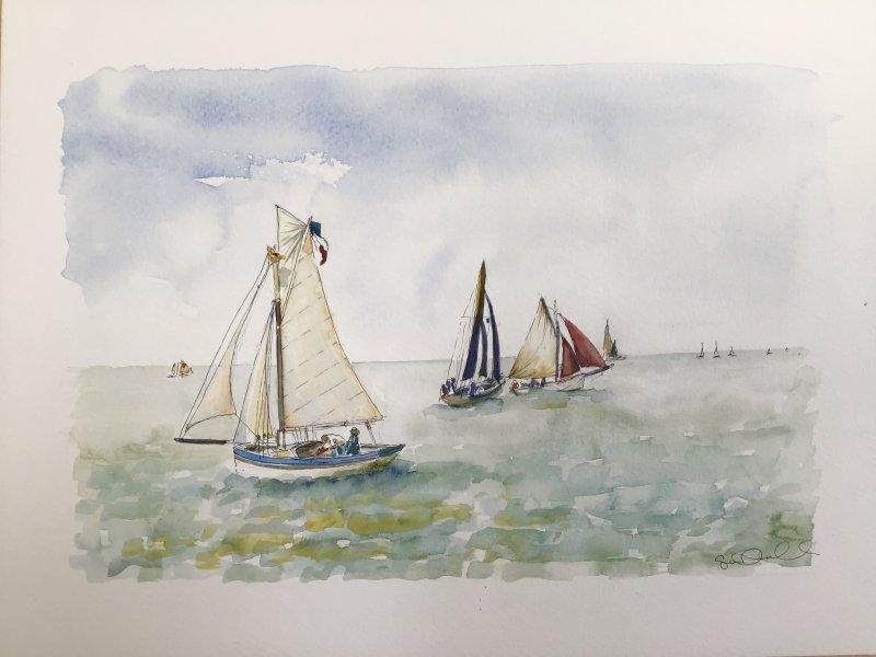 La Flotte Voilier Sue Dudill Artiste ile de Re