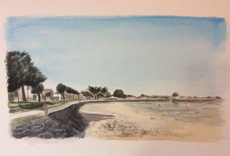 La Flotte plage dArnerault2 Sue Dudill Ile de Re