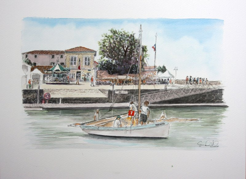 La Flotte vieux greements 7 Sue Dudill Artiste Ile de Re