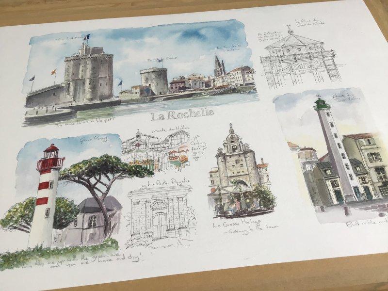 La Rochelle Sketch Artiste Ile de Re Sue Dudill