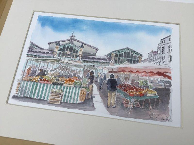 La Rochelle market Sue Dudill Artiste Ile de Re