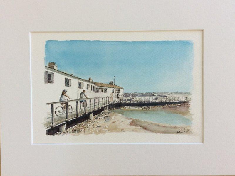 Le Port de Loix half size Sue Dudill artiste Ile de Re