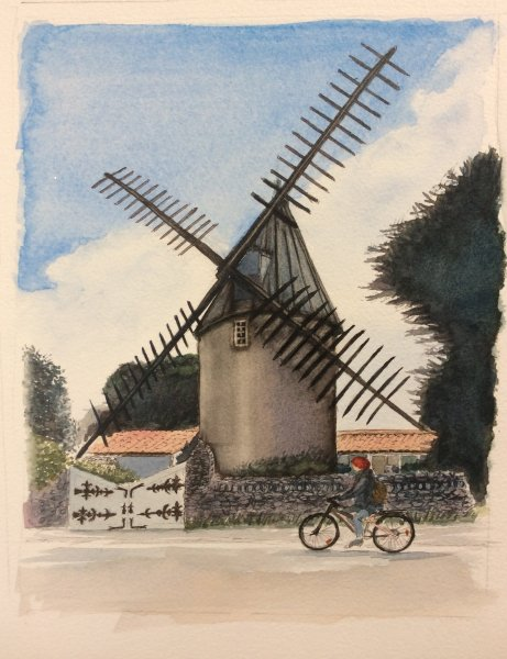 Le moulin au bois Sue Dudill Ile de Re