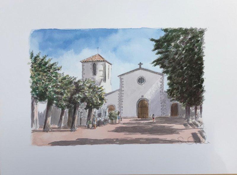 Loix Eglise 2021 Sue Dudill Artiste Ile de Re