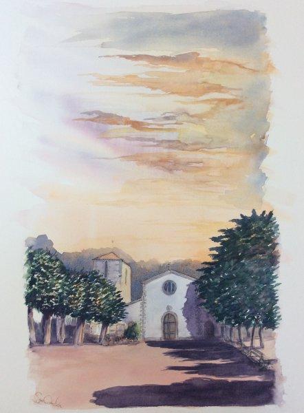 Loix Eglise O Sue Dudill Artiste de l'ile de Re