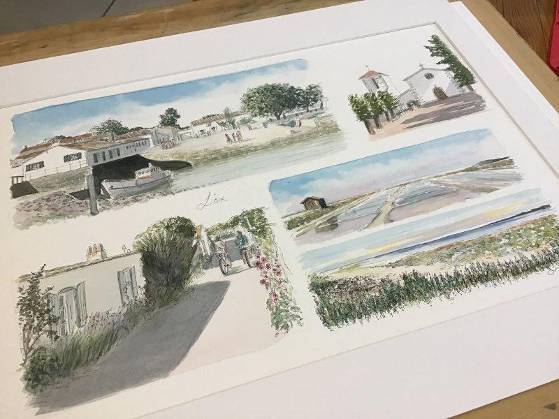 Loix Sketch Sue Dudill artiste ile de Re
