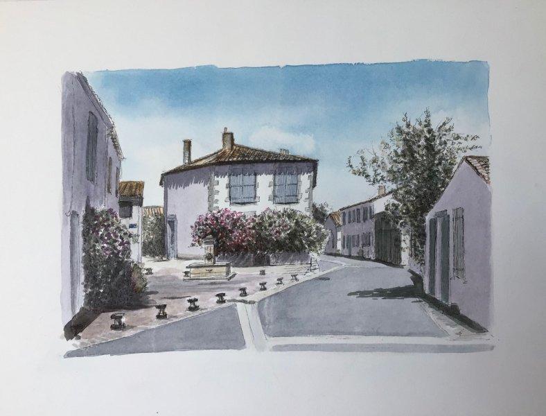Loix rue du Peulx Sue Dudill artiste ile de re