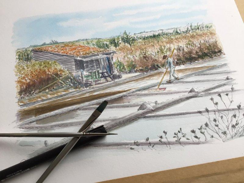 Marais Salants Ile de Re Artiste Sue Dudill