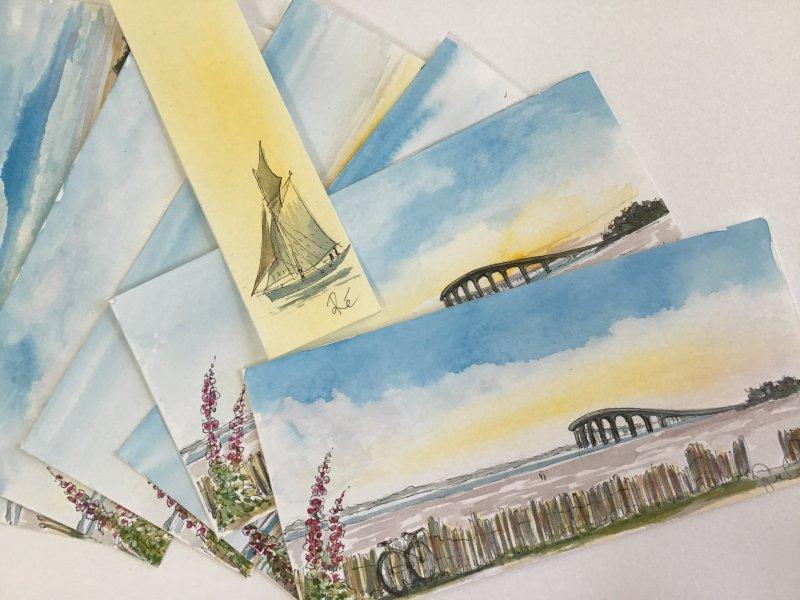 Pont de Re Sue Dudil Artiste Ile de Re