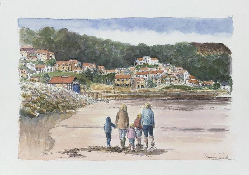 Runswick Bay Sue Dudill artiste ile de Re