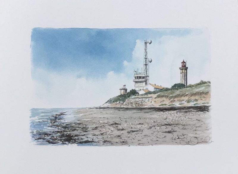 St Clement 2 phares semaphore 2021 Sue Dudill Ariste Ile de Re
