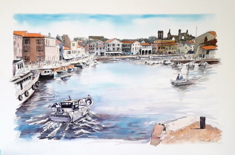 St Martin Port Sue Dudill Artiste Ile de Re