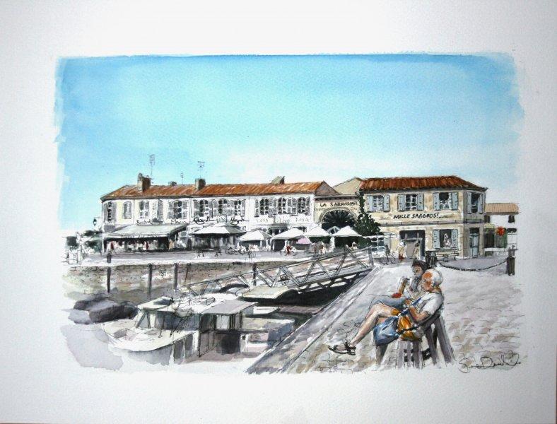 St Martin Tintin Sue Dudill Artiste Ile de Re