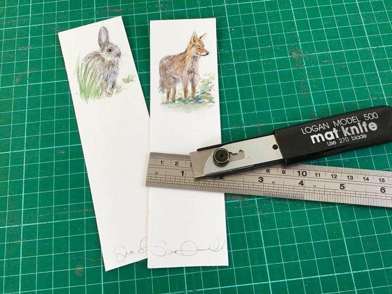 Wildlife bookmark Sue Dudill artiste Ile de Re