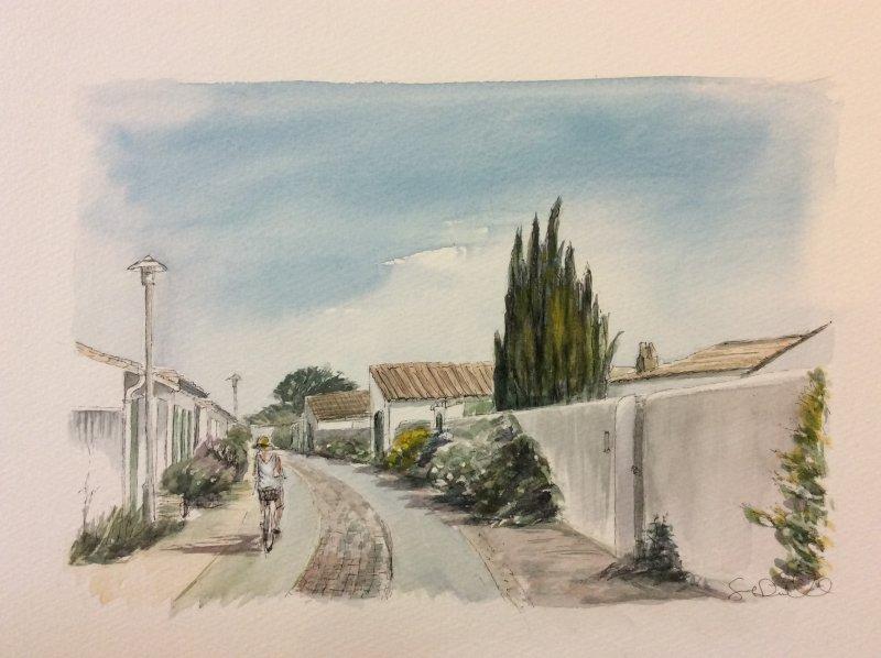 rue des minees  Loix  2 Sue Dudill artiste ile de Re