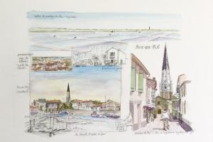 Ars Watercolour Sketch Sue Dudill Artiste Ile de Re
