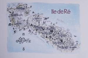 Carte Ile de Re Sue Dudill artiste peintre