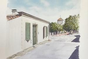 Client commande maison Loix Sue Dudill Artiste Ile de Re