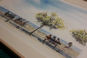 Front de mer La Flotte Sue Dudill artiste ile de re