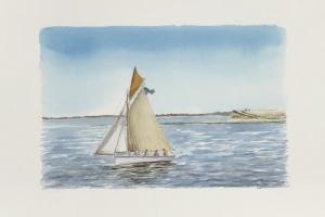 La Flotte walk falaises Sue Dudill artiste Ile de Re