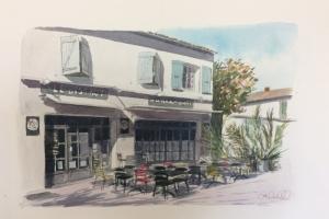 La Noue Bar a Quai 2 Sue Dudill Artiste Ile de Re