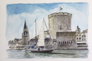 La Rochelle Port Sue Dudill Artiste Ile de Re