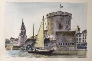 La Rochelle boat Sue Dudill Ile de Re
