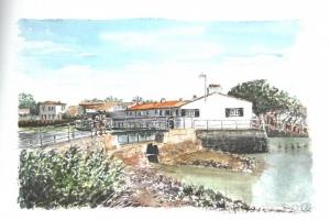 Loix Fete du Port 2 regardent Sue Dudill Artiste Ile de Re