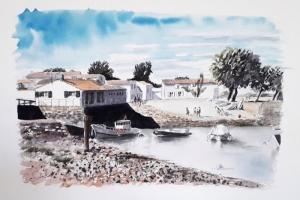 Loix Le Port Sue Dudill Artiste Peintre Ile de Re