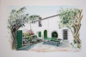 Loix Maison Sue Dudill Artiste Ile de Re
