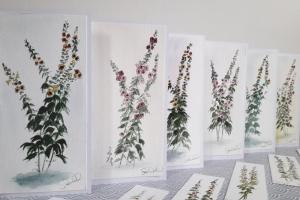 Rose Tremiere Carte de Voeux Ile de Re Sue Dudill Artiste