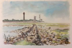 St Clement 2 phares semaphore Sue Dudill artiste Ile de Re
