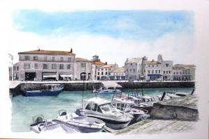 St Martin Le port 2019 Sue Dudill Artiste Ile de Re