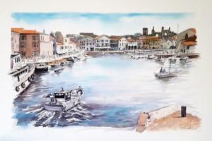 St Martin Port Sue Dudill Artiste Ile de Re
