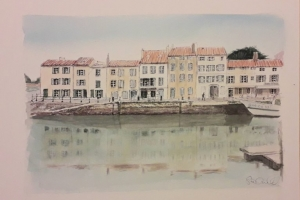 St Martin Port reflection 19 artiste Ile de Re
