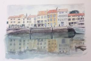 St Martin le port Sue Dudill Artiste Ile de Re