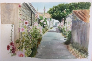 Village fleurie Sue Dudill Ile de Re