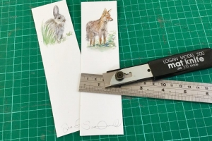 Wildlife bookmark Sue Dudill artiste Ile de Re