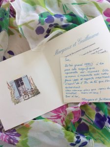 Wedding invitation Ile de Re Watercolour